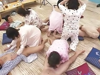 Asian Swingers Blowjob Orgy