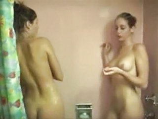 Highly Sexual Teen Lesbians Showering Part 1