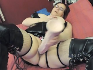 Glasses Latex Masturbating