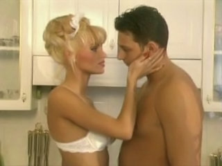 Blonde Kitchen European European French French Milf