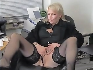 Secretary Office Mature Mature Stockings Stockings