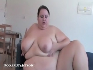 BBW mature masturbates with dildo free