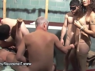 Video from: hardsextube | Amateur orgy with shemale female and men