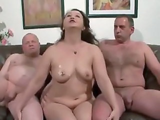 Threesome Chubby Mature
