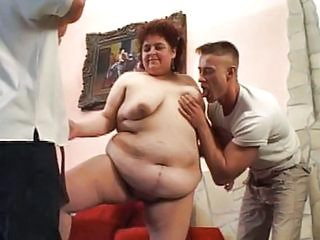 Shaved Fat Bitch Fucking Threesome
