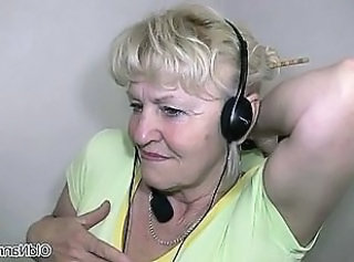 Big tits horny grandma loves dancing part1