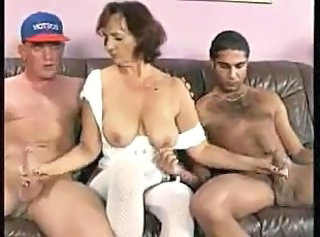 Handjob Saggytits European European German German Mature