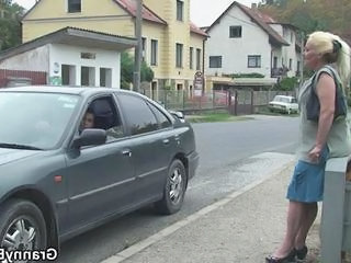 Public Car Outdoor Granny Young Old And Young Outdoor