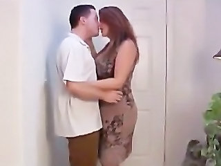 Kissing BBW Girlfriend