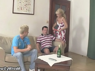 Perverted Parents Lure His Gf Into Threesome