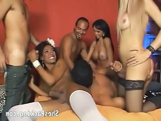 Video from: nuvid | 3 Sexy Shemales Love Having Group Sex