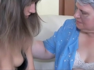 Old Big-titted Grandma Pleasuring Close To Emaciated Woman