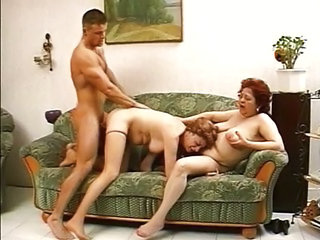 Family Threesome Chubby Family Grandma Old And Young