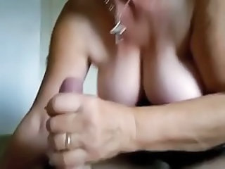 Hand jobs - Granny sucks and swallows