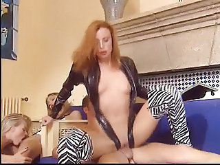 Redhead Clothed Riding