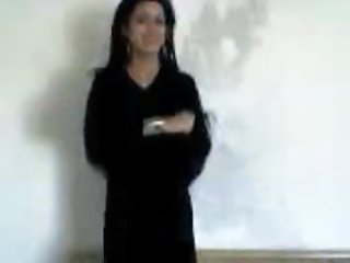 arabic brunette slut showing tits and body
