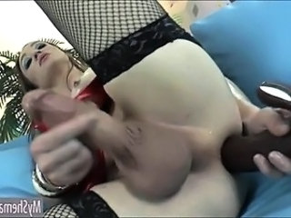 Hot Shemale Jacqueline Woods anal toying