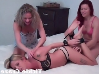Hogtied and tickled until she screams