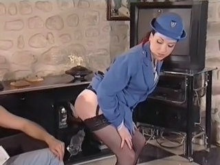 Vintage french anal girl