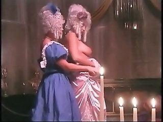 Retro wigs and costumes lesbian scene