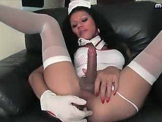 Sexy shemale nurse sucking