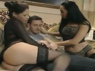 Threesome Asian Stockings Stockings