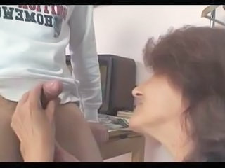GrannyBet - Sewing granny jumps on fresh cock Sex Tubes