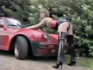 Car Latex Legs Hooker Outdoor