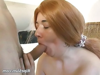 Mature Redhead Whore Gets Her Old Cunt