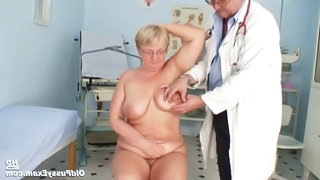 Fat Mature Radka Gets Real Speculum Exam By Kinky Gyno Docto