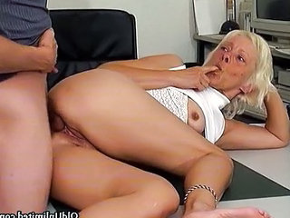 Office Secretary Ass Grandma Office Pussy