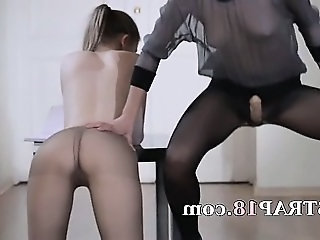 18yo schoolgirl gets fuck from strap on
