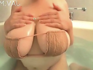 Bikini Chubby Natural Asian Big Tits Bathroom Bathroom Tits