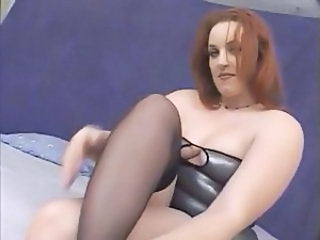 Redhead Stockings BBW