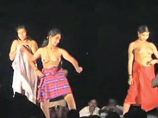 Naked Stage dance in india