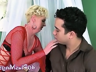 hot blonde mature fucking stud