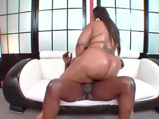 Oiled Ebony Ass
