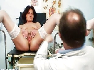 Pussy Doctor Hairy Grandma Older Man Stockings
