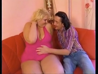 Fat Belly Blonde Fucked By Skiny Guy