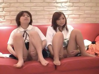 Yumi and Mai, Japanese lesbian play and 3P, clip 1