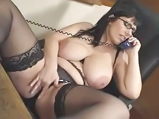 Stockings Masturbating Glasses
