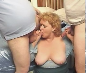 Threesome BBW Saggytits Bbw Blowjob Bbw Tits Tits Job