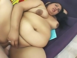Very fat brunette gets fucked
