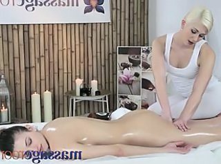 Massage Rooms Two beautiful lesbians have intense orgasms