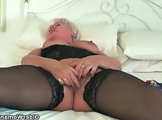 Masturbating BBW Stockings Bbw Masturb Grandma Stockings