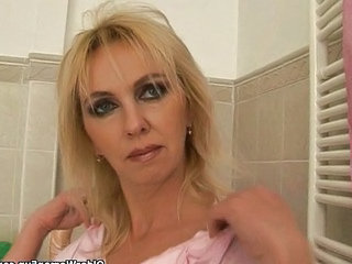 Bathroom Blonde Bathroom Bathroom Mom Blonde Mature