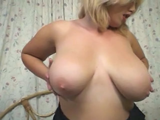 Hot Busty Blonde Plumper Fucks Herself