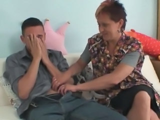 Penis starving mother-in-law jumps onto his prick