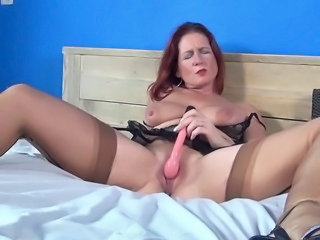 Masturbating Redhead Toy Masturbating Mature Masturbating Mom Masturbating Toy