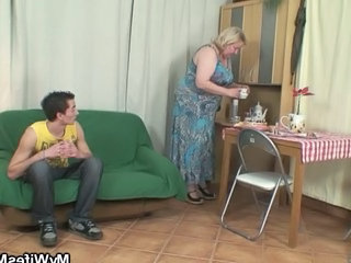 Huge Granny Is Banged By Her Son...